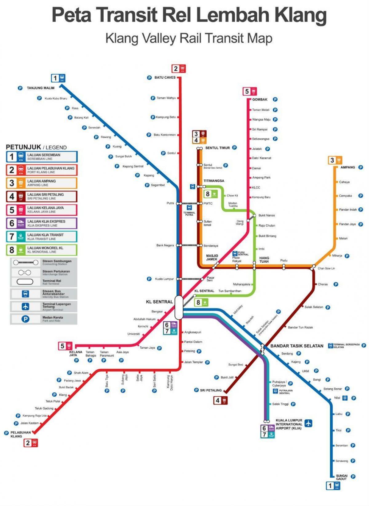 Malaezia Feroviare Hartă Traseu De Tren Harta Malaezia Malaysia